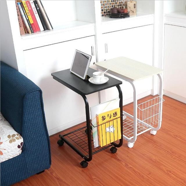 Fashion high quality  simple computer table lazy removable square bedside table simple notebook computer desk  free shipping