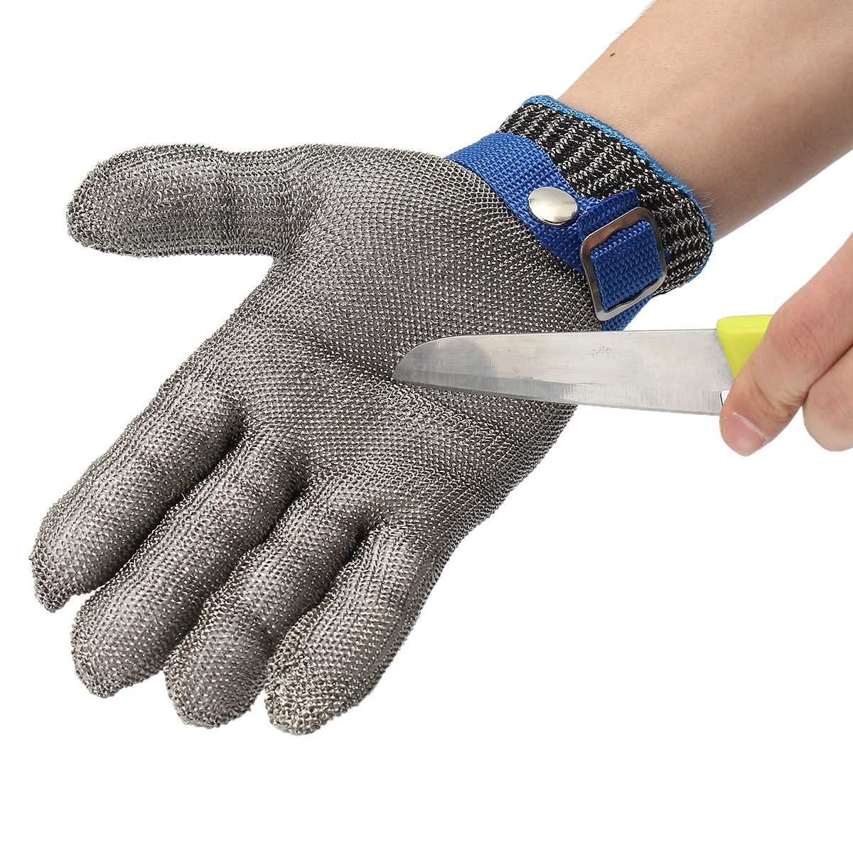 NEW Size S Safety Cut Proof Stab Resistant Stainless Steel Wire Metal Mesh Glove High Performance Level 5 Protection 1pcs safety gloves cut proof stab resistant stainless steel wire metal mesh butcher anti knife