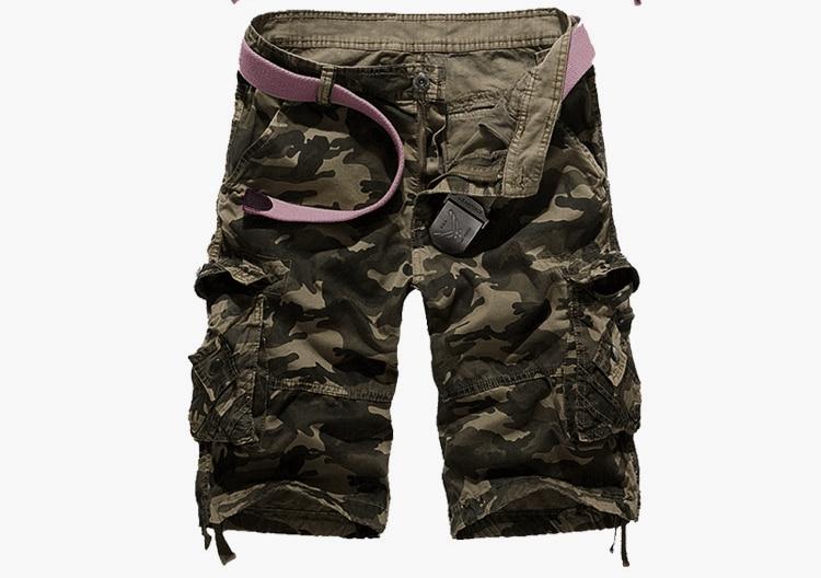 Новый Камуфляжный свободные шорты-карго Для мужчин Открытая Летняя обувь Военный Камуфляж Короткие штаны