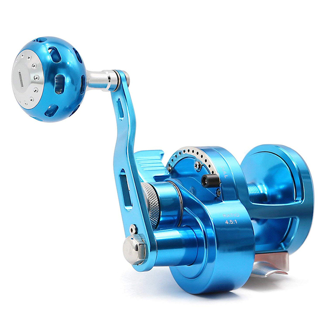 Aluminum CNC Saltwater Fishing Reel Pesca 5.7:1 9BB+1 Baitcasting Saltwater Sea Fishing Reels Bait Casting Surfcasting Drum Reel