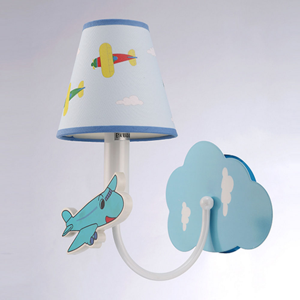 Modern Cartoon Aircraft Wall Lamp LED Night Light Children Room Channel Attic Lighting Decorative Wall Bedside Lamp m best price children love cartoon wall lamp room card 3d creative wall lamp bedside lamp 0 5kg pvc stickers easy to install