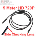 "5Meter 720P 5.5"" diameter endoscope camera Android OS OTG function video checking endoscope camera side lens Surveillance Camera"