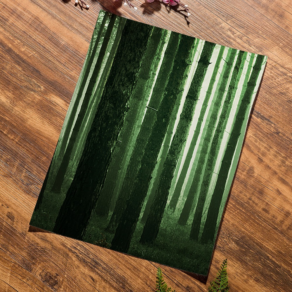 Green Fresh Fern Leaves Forest Lake Wall Art Canvas Painting Nordic Posters And Prints Wall Pictures For Living Room Home Decor in Painting Calligraphy from Home Garden