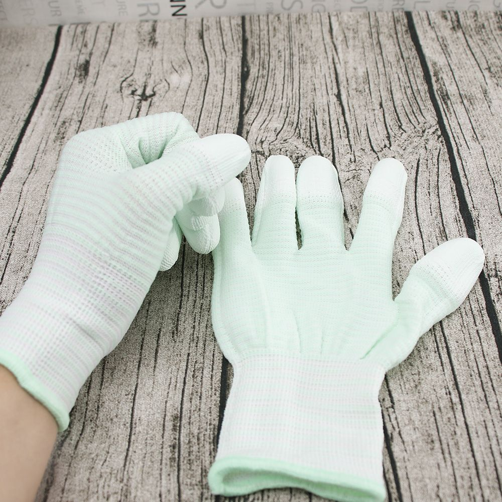 Hot Sale 1 Pair PU Finger Gloves Anti-static Gloves Nylon Quilting Gloves For Motion Machine Quilting Sewing Wamer Gloves