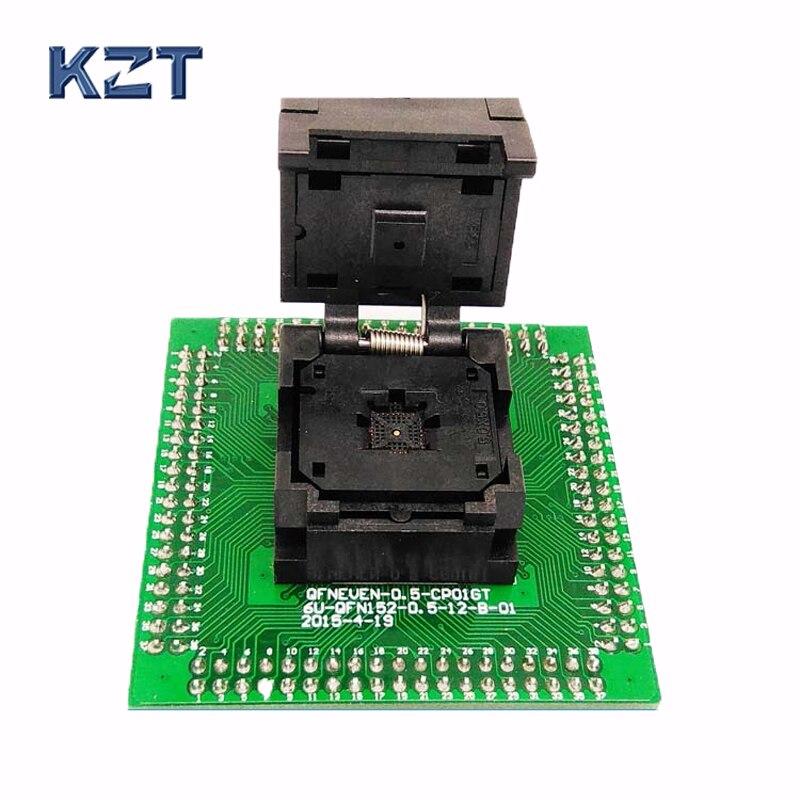 QFN32 MLF32 IC Adattatore Di Prova Passo 0.5mm IC550-0324-007-G Presa Di Programmazione A Conchiglia Dimensione Del Chip 5*5 Flash Adapter Brucia Nella Presa Di Corrente
