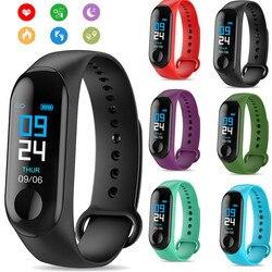 M3 Intelligente Del Braccialetto Della Fascia Inseguitore di Fitness Frequenza Cardiaca Pressione Sanguigna Messaggi Promemoria Schermo a Colori Impermeabile di Sport Wristband