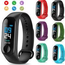 М3 смарт-браслет группы сообщений напоминание цветной экран водонепроницаемый спортивный браслет