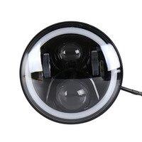 7 дюймов светодиодный фар круглые Форма установка Фар Halo Проекторы и Halo Противотуманные фары для Jeep для Wrangler