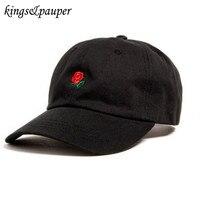 The Hundreds Rose Embroidered Baseball Cap Snapback Adjustable Hip Hop Hat Men Women Sun Hat