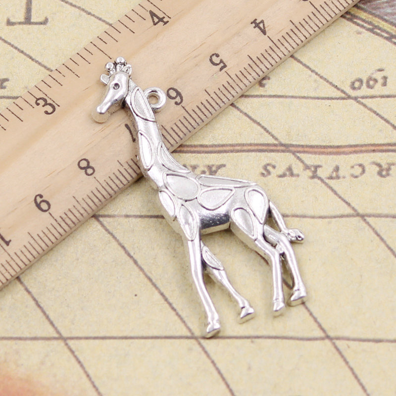 5pcs Giraffe charms pendant 66x36mm antique silver ornament accessories jewelry making DIY handmade craft base material