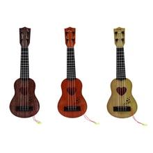 Мини для начинающих безопасный Классический Простой укулеле гитара 4 струны образовательный музыкальный концертный инструмент игрушка для детей Рождественский подарок