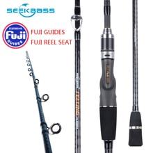 Japan Full Fuji Parts SeekBass New Light Slow Jigging Rod 2.0M  Pe 0.8-1.5 Lure 30-170g Casting Ocean Fishing Tai Rubber