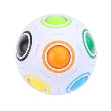 Радужный кубический мяч, креативная головоломка, футбольные мини магические кубики, игрушка для взрослых, антистресс, обучение для детей TY0308