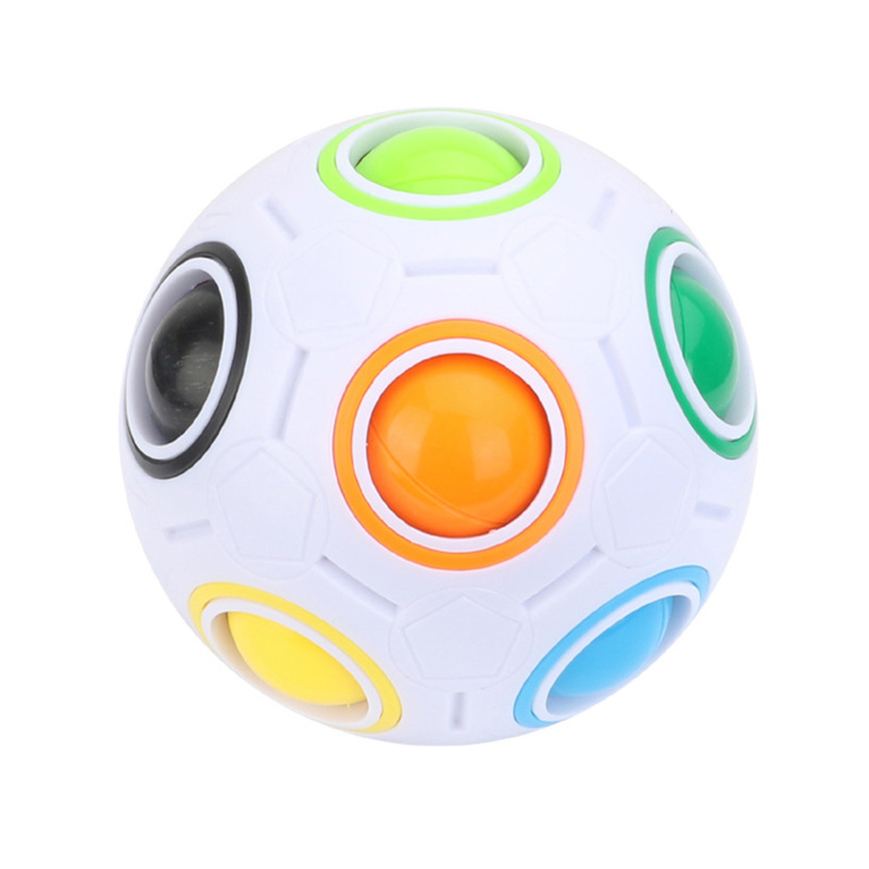 Rainbow Cube Ball Creative Puzzle Soccer Mini Magic Cubes Toy Adult Decompression Anti Stress Children Learning TY0308