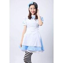 Alice in Wonderland Costume Dress Maid Cosplay Halloween