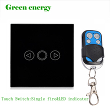Free Shipping,EU Standard touch remote dimmer switch for light,Wall Switch, Black  Glass Panel, Wall Light Touch Dimmer Switch