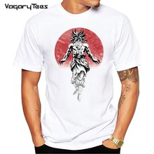 Rote Sonne Guts Berserker Dragon ball Z Anime Normalen T-shirt Männer Kurzarm Nach Legendären Broly Männer T-shirt Teenager Tops t(China)