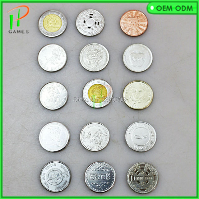 US $256 0 |5000 pcs Game coin token arcade stainless steel token acceptor  game machine token Russian game coins Can be customized design-in Coin