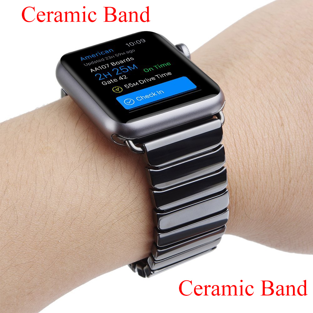 Ceramic Watch Bands For Apple Watch Bands 38MM 42MM Creamic Link Bracelet Bands For Apple Watch