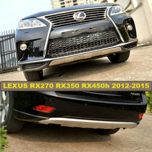 Bumper Guard Skid Plate For LEXUS RX270 RX350 RX450h 2012.2013.2014.2015 High Quality Stainless Steel Front+Rear Guard Plate