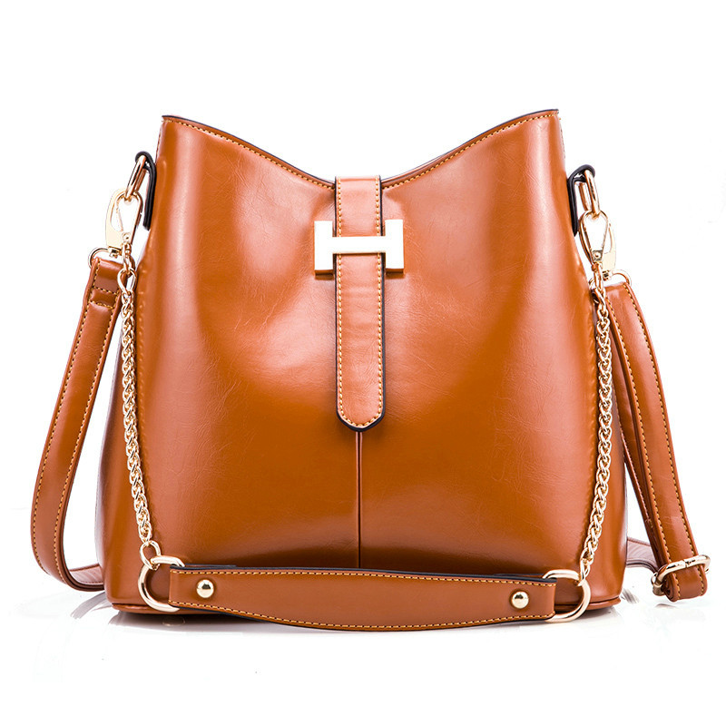 Kajie Women Messenger Bags Genuine Leather Bucket Sac A Main Shoulder Bags Lady Crossbody Bag Girl Belt Chain High Quality Totes 2017 hot fashion women bags 3d diamond shape shoulder chain lady girl messenger small crossbody satchel evening zipper hangbags
