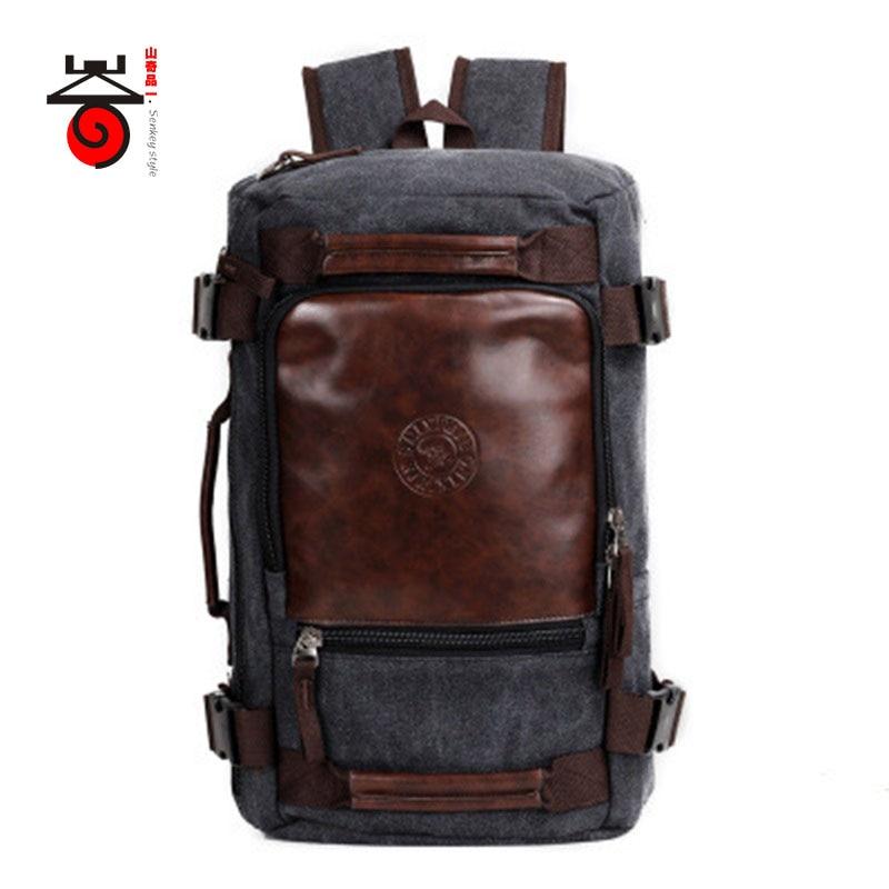 Senkey style 2019 Fashion Large Capacity Rucksack Men s Canvas Backpack MULTIFUNCTION Leisure Travel Men s