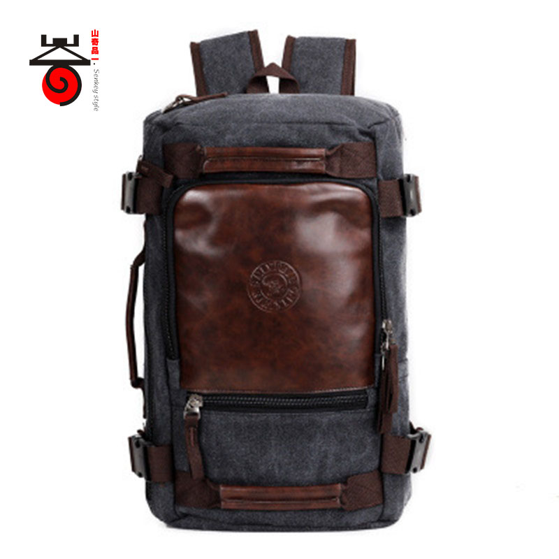 Senkey style 2018 Fashion Large Capacity Rucksack Men's Canvas Backpack MULTIFUNCTION Leisure Travel Men's Laptop Backpacks bag цена и фото