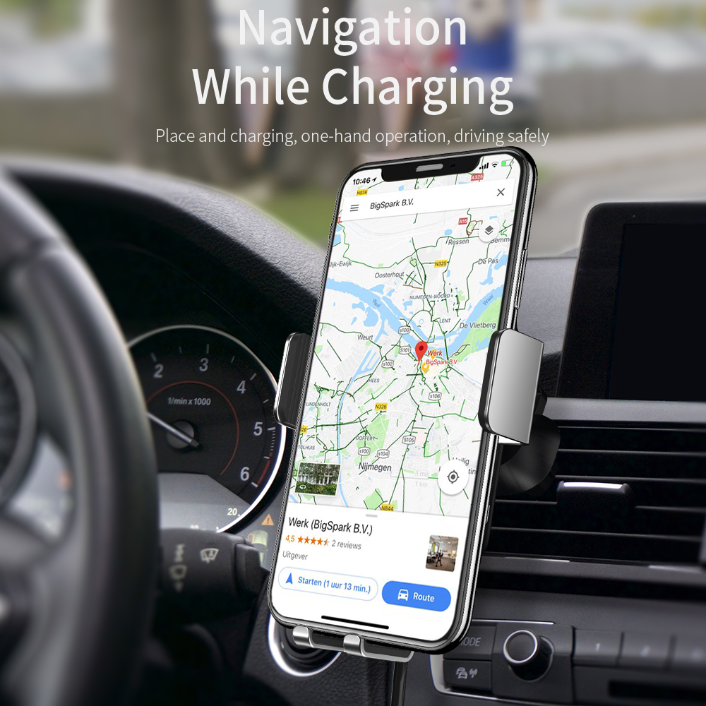 Image 2 - FPU Qi Car Wireless Charger for iPhone Xs Max XR X 8 10W Fast  Wireless Charging for Samsung S10 S9 S8 Car Phone Holder ChargerCar  Chargers