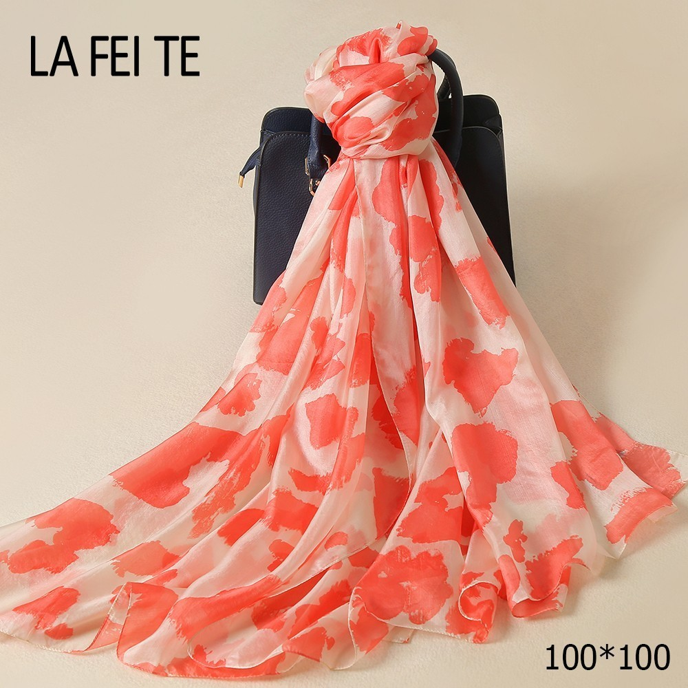 Luxury Twill Silk Square Scarf Women Summer Foulard Femme Hair Chiffon Hijab Bandana Shawl Womens Square Neck Head Satin Scarf