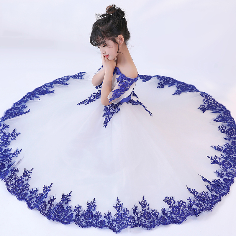 Shoulderless Holy Communion Dress Embroidery Flower Girl Dresses for Wedding Evening Dress Ball Gown Princess Prom Party Dress flower girl dresses for weddings evening party dress embroidery sleeveless tulle princess ball gown dress vestidos mujer d30