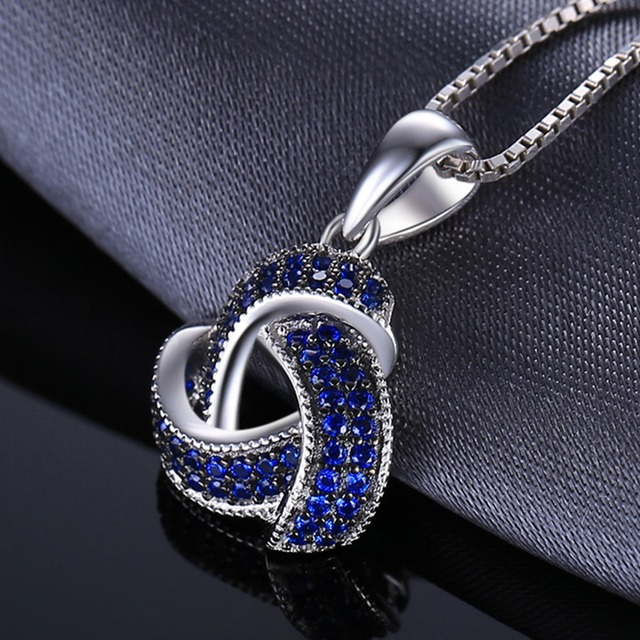 Blue Spinel Silver Necklace