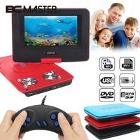7 8 Inch DVD Game Player Digital Multimedia Player 270 Degree Swivel Screen VCD CD MP3