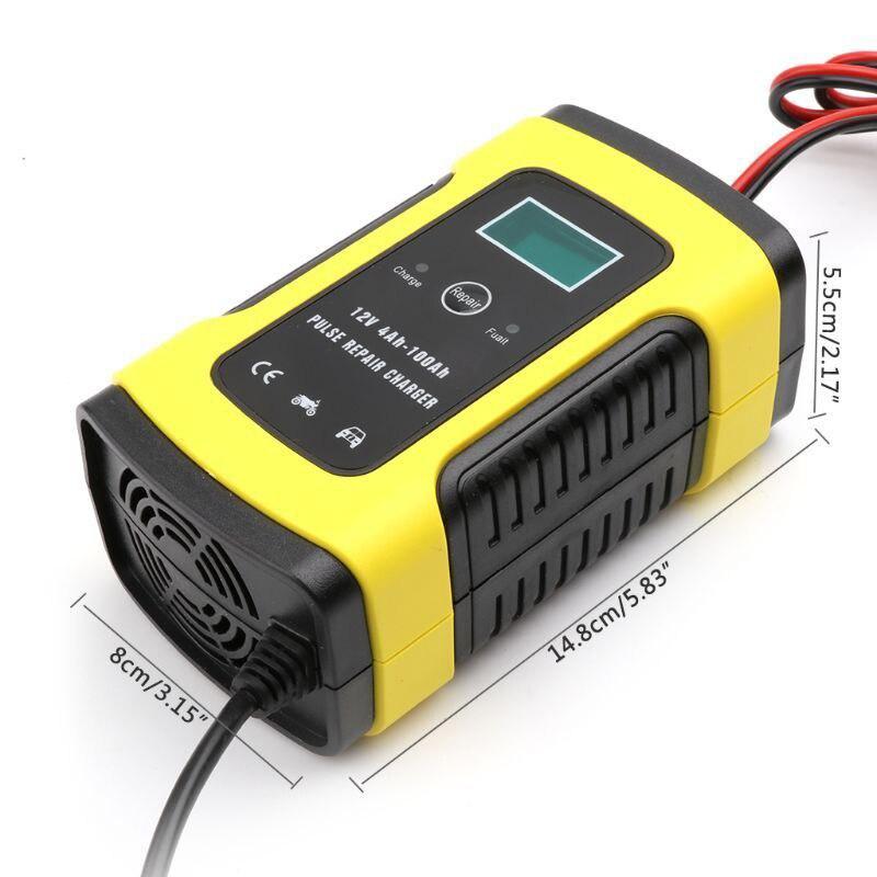 12 В автоматическое автомобильное зарядное устройство для авто мотоцикла свинцово-кислотные аккумуляторы интеллектуальная зарядка 12 В вол...