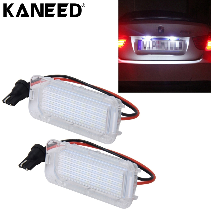 KANEED For Ford Focus License Plate Light 5D 18 SMD-3528 LED Car Number Plate Lamps Licence Lights For Ford Mondeo Fiseta 09-16