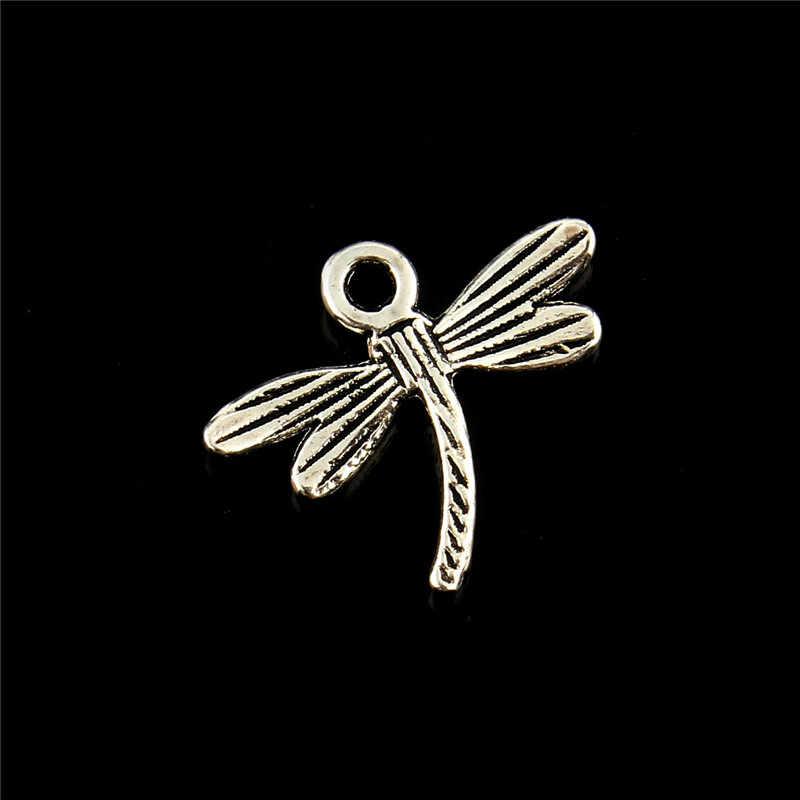 10 chiếc Charm Chuồn chuồn 18*15mm Cổ mặt dây chuyền phù hợp với Vintage Bạc Tây Tạng TỰ LÀM cho vòng tay vòng cổ chìa khóa