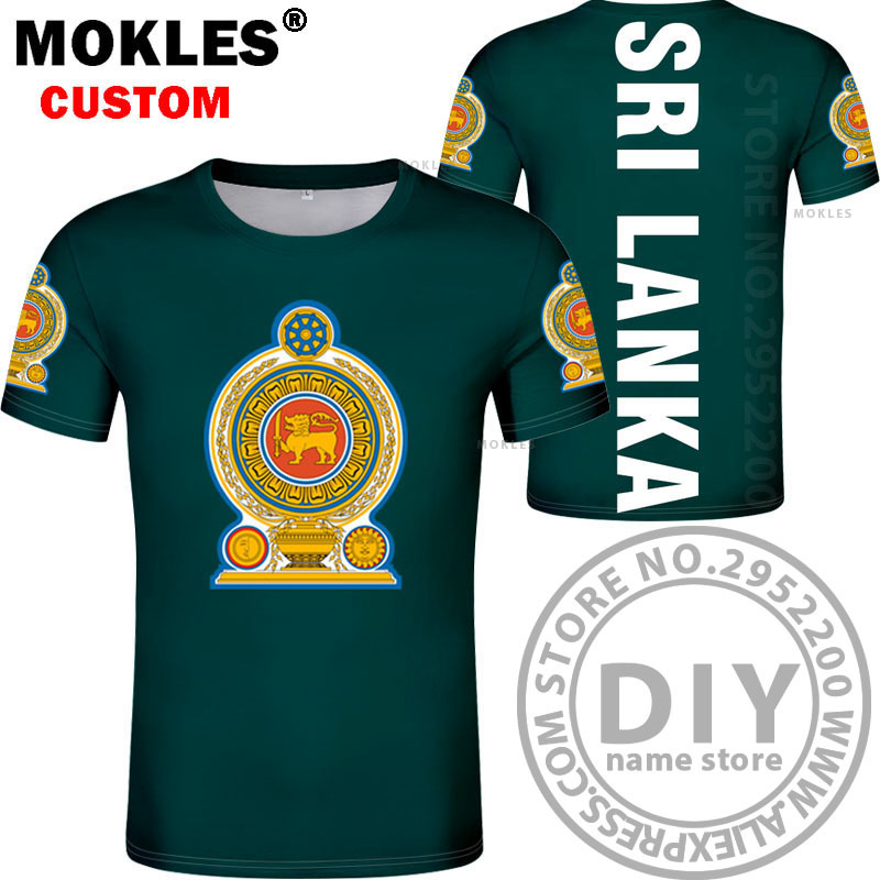Country of Sri Lanka Custom Personalized Name /& Number Infant or Toddler T-shirt