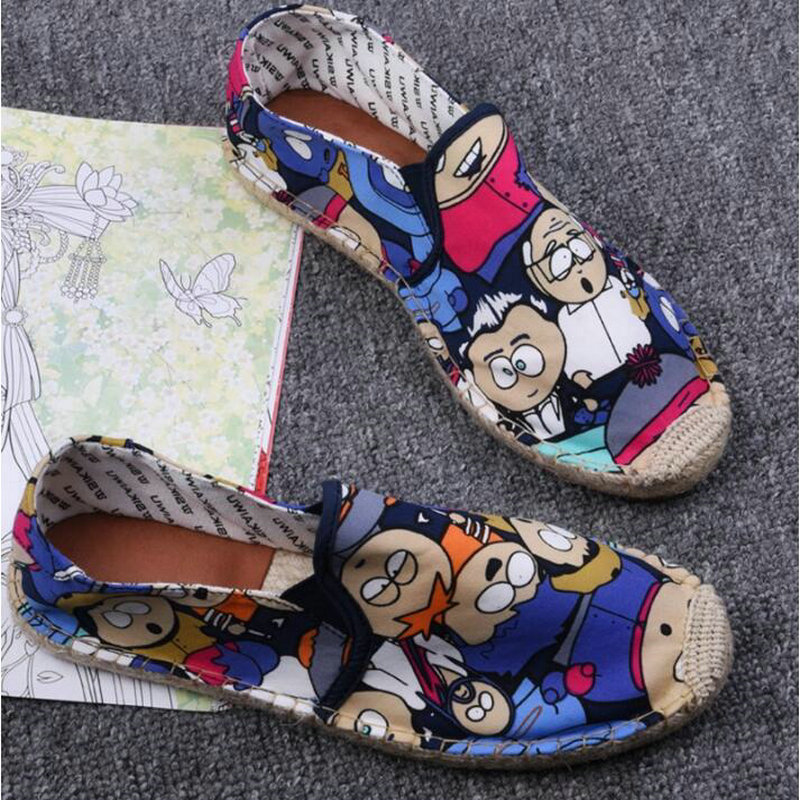 Women Casual canvas Shoes cartoon Linen Girl Espadrille Fisherman Shoes Ladies Flats Plimsolls Loafers driving shoes LF-5050 5