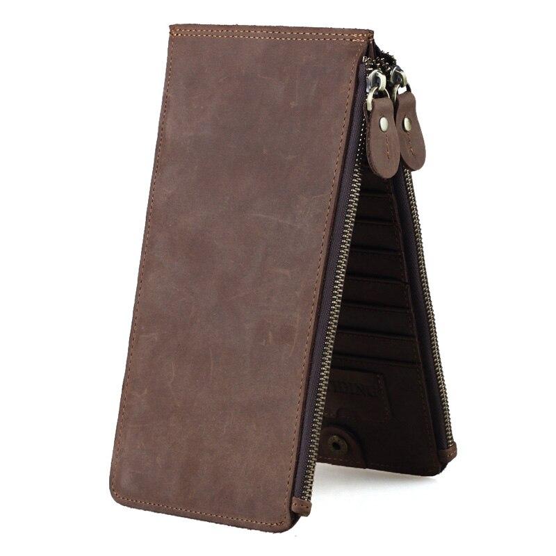TIDING portefeuille porte-cartes de crédit marque hommes en cuir de vachette porte-cartes professionnelles 4051