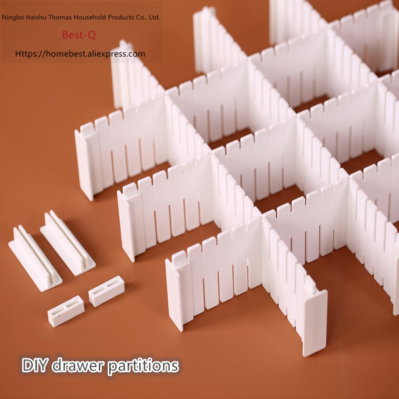 Free shipping Free combination drawer partition / finishing grid / drawer separator / storage partition / plastic partition