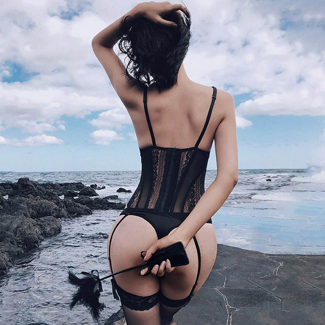 CINOON Sexy Bustier and Corset Women High Elastic Gothic Corset Female Solid Bustier Overbust Push Up Corset Bralette 3 Pcs/Lot 1