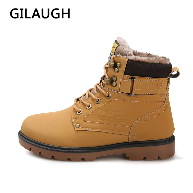 Men's Boots Fashion Super Warm Winter Shoes Outdoor Men Boots Casual - Men's Shoes - Photo 2