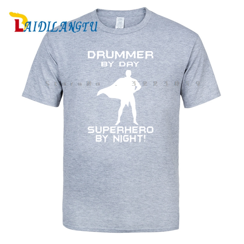 Hot SELL DRUMMER SUPERHERO Funny Music Band Xmas Birthday Gift Ideas Boys T SHIRT In Shirts From Mens Clothing On Aliexpress