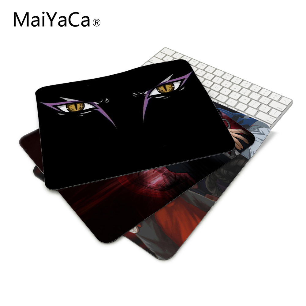 Cool Ninja Naruto Uchiha Sasuke Sharingan Anime Series Mouse Mats Anti-Slip Rectangle Mouse Pad Customized Supported Anti Slip