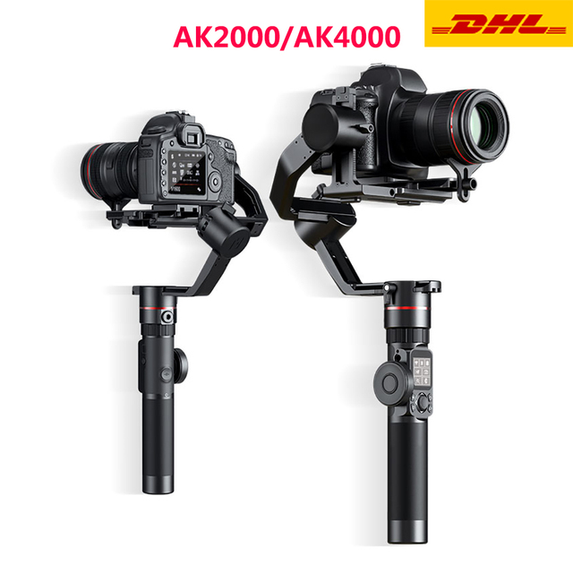 FeiyuTECH AK2000 AK4000 3 Trục Ổn Định Camera Handhel Gimbal Cho Sony Canon 5D Panasonic GH5 Nikon Estabilizador De Camera