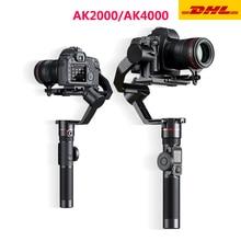 FeiyuTech AK2000 AK4000 3 แกน Stabilizer สายแฮนด์เฮลด์ Gimbal สำหรับ Sony Canon 5D Panasonic GH5 Nikon Estabilizador De กล้อง