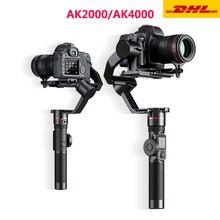 Feiyutech ak2000 ak4000 3 axis câmera estabilizador handhel cardan para sony canon 5d panasonic gh5 nikon estabilizador de câmera