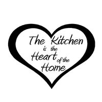 Love Heart Vinyl Wall Sticker Quote For Kitchen Removable Home Decor Waterproof Art Decal Mural Custom