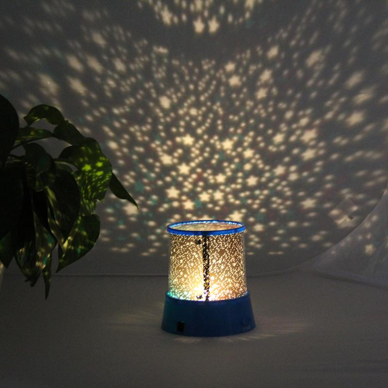 LED Projector Lamp Romantic Night Sky Atmosphere Light Children Bedroom Decoration Bedside lamp Creative Gift Projection Light