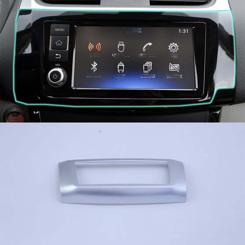 ABS matte Interior accessories navigation cover  Car Styling For Nissan sentra 2016