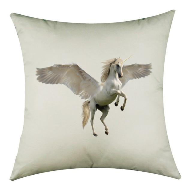 Classic Style Unicorn Linen Cotton  Seat squared Pillowcase good quality free shipping N4243